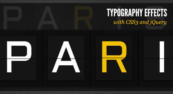 Efectos de tipografía en CSS3